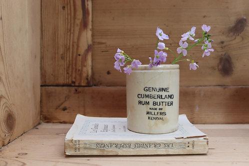 Rum Butter Stoneware Pot