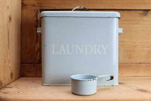Powder Blue Vintage Laundry Tin & Scoop