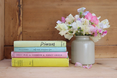 Collection of Pastel Vintage Flower Books