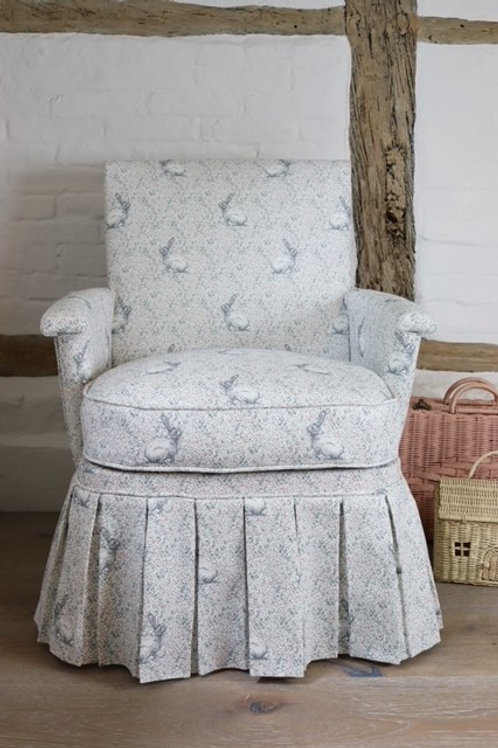 Vintage 50's Armchair - Reupholstered in Peony & Sage - Delilah's Rabbit