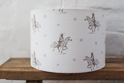Peony & Sage Vintage Cowboy Ceiling Lampshade 30cms