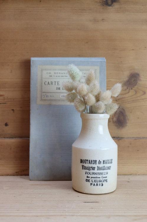 Vintage Paris Moutarde de Maille Vinaigrier Distillateur Stoneware Jar