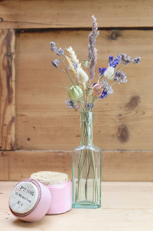 Vintage Bottle ~ Dried Flower Posey