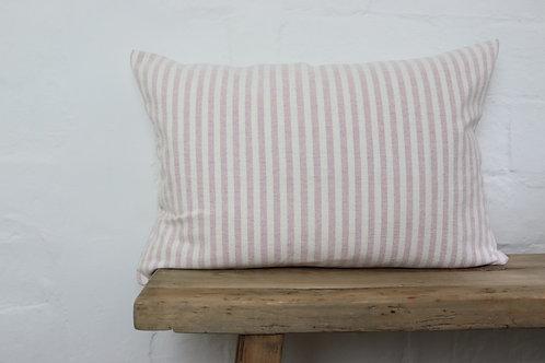 Susie Watson Dusky Pink Ivory Stripe Cushion