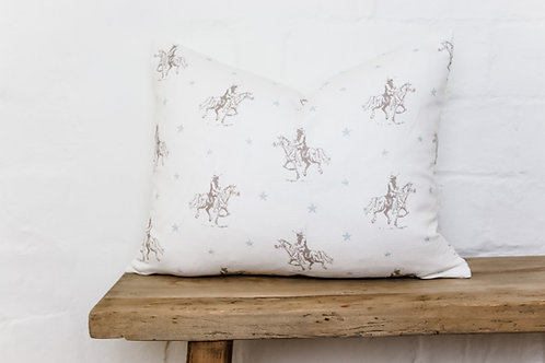 Peony & Sage Vintage Cowboys  Cushion