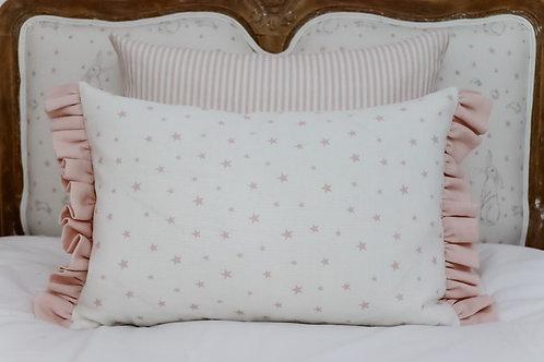 Peony & Sage All Star cushions with Ruffle trim