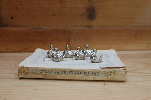 Vintage French Swan Name Place Holders