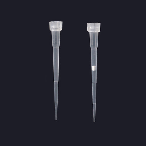 Puntas largas para micropipeta 0,1-10 ul / Bolsas de 1000 uds. / Rack 96 uds.