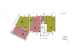 План Первого этажа.Блок-секция 7-8.