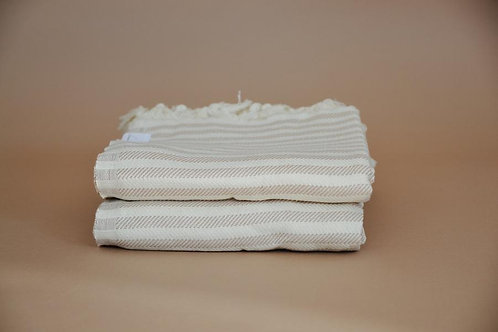 Oversized Turkish Towel- Willow Stripe
