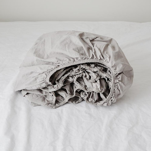 Turkish Cotton Fitted Sheet- Queen