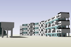 Stacked Prefab concrete modular conce