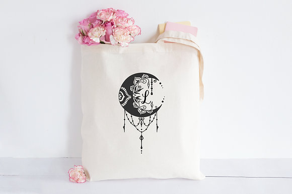 Crescent Mystic Moon | Personalised Cotton Tote Bag