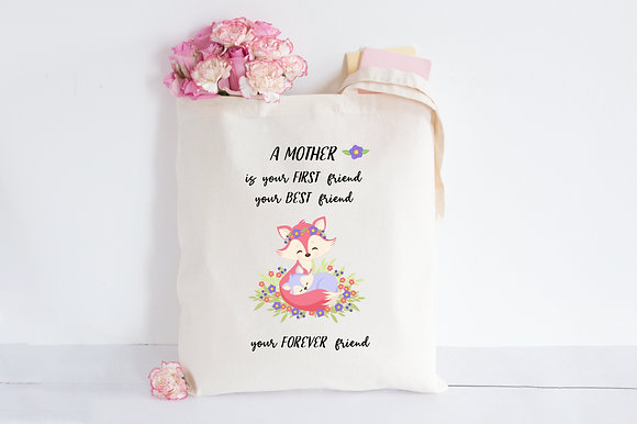 Mother Best Friend | Personalised Cotton Tote Bag