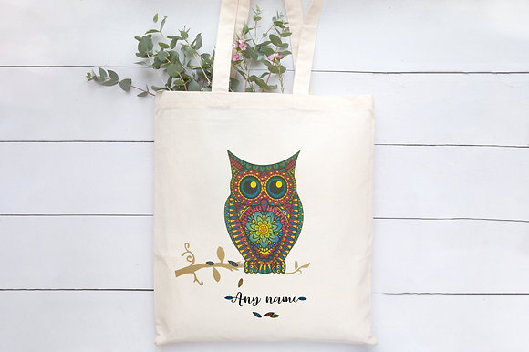 Owl | Personalised Cotton Tote Bag