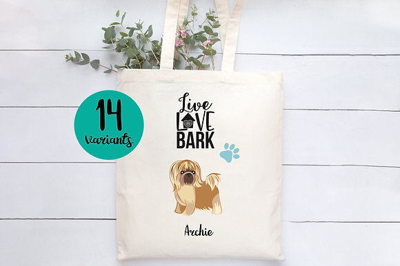 Live Love Bark | Personalised Cotton Tote Bag