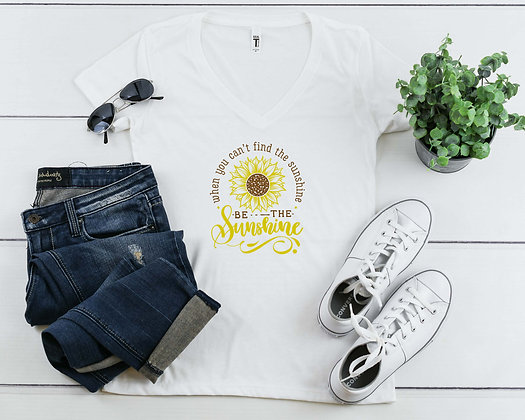 Be the Sunshine   Women's Slim V-Neck T-shirt