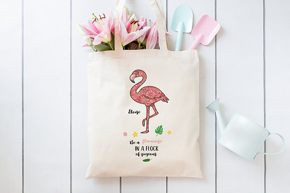 Be a Flamingo | Personalised Cotton Tote Bag