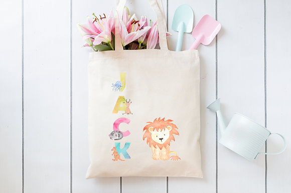 Animal Alphabet | Personalised Cotton Tote Bag