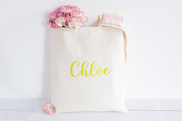 Shiny Golden Name | Personalised Cotton Tote Bag