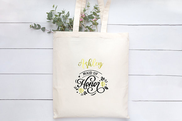 Maid of Honor | Personalised Cotton Tote Bag