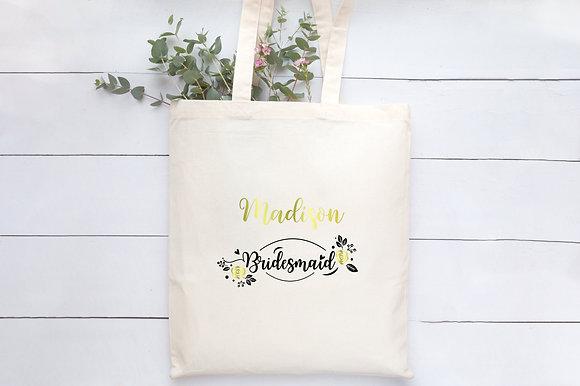 Bridesmaid   Personalised Cotton Tote Bag