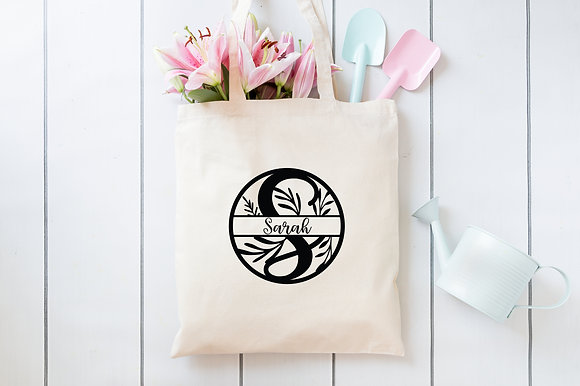 Monogrammed Name   Personalised Cotton Tote Bag