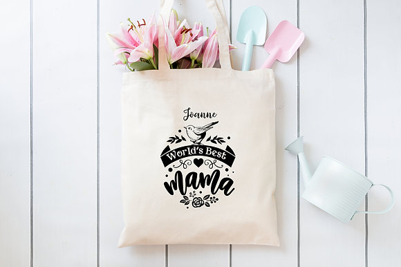 World's Best Mama | Personalised Cotton Tote Bag