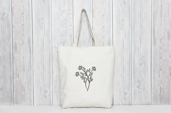 Peony | Personalised Cotton Tote Bag