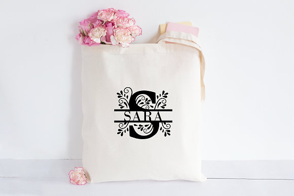 Monogram | Personalised Cotton Tote Bag