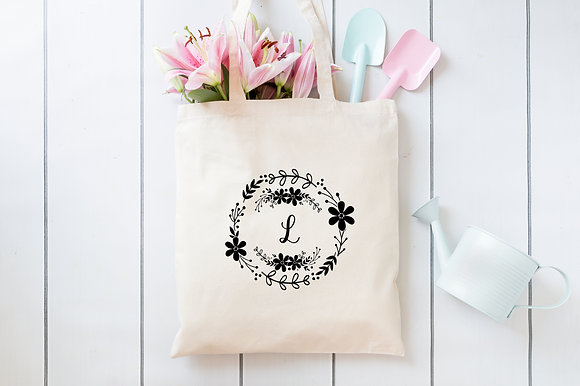 Floral Circle | Personalised Cotton Tote Bag
