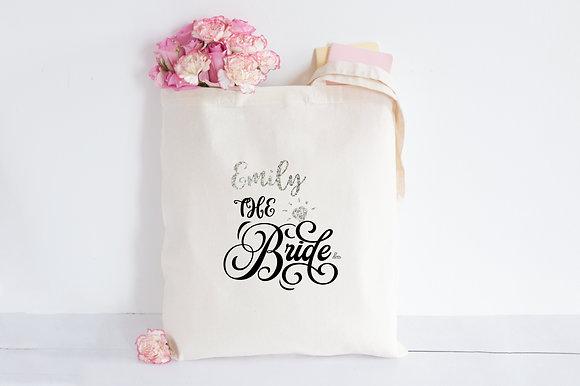Beautiful bride   Personalised Cotton Tote Bag