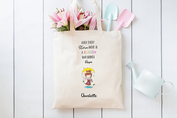 Rainbow after the Storm | Personalised Cotton Tote Bag