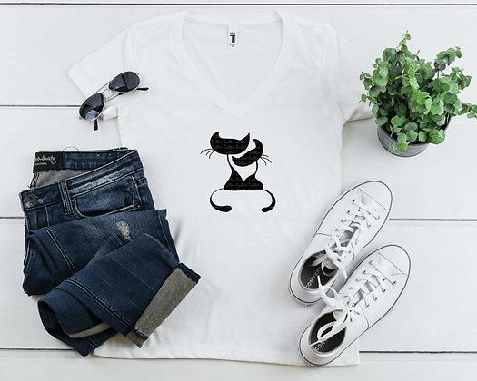 Love Cats   Women's Slim V-Neck T-shirt