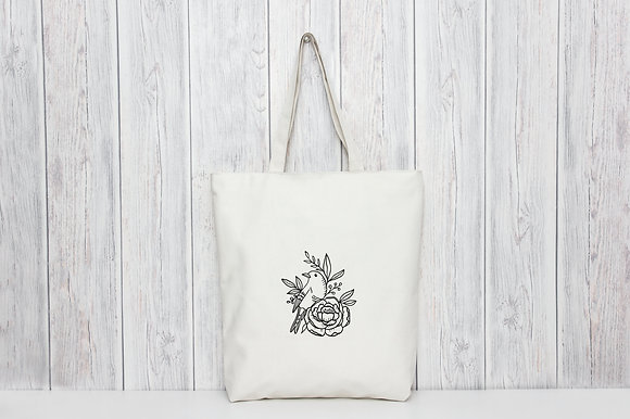 Bird | Personalised Cotton Tote Bag