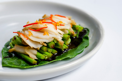 Steamed Abalone & Greens