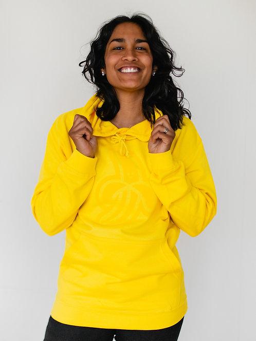 BIG BUILDER: Adult Hoodie - Sun Yellow