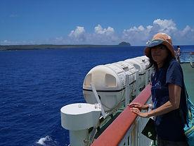 硫黄3島クルーズにて