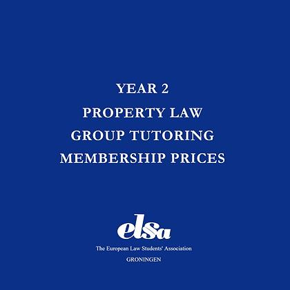 Property Law Group Tutoring ELSA Member