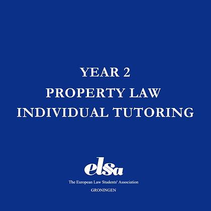 Property Law Individual Tutoring ELSA Member
