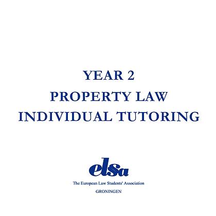 Property Law Individual Tutoring Non-ELSA Member
