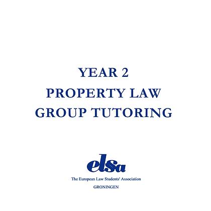 Property Law Group Tutoring Non-ELSA Member