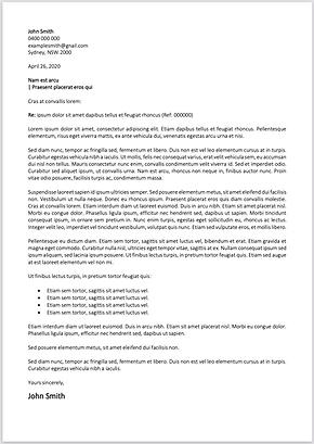 Custom written cover letter template
