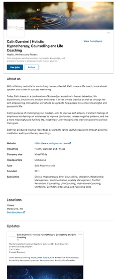 Linkedin profile by Client Centric