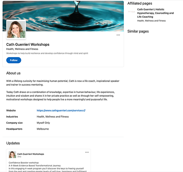 Professionally written Linkedin profile for a small business