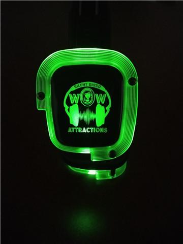 Green LED Headset
