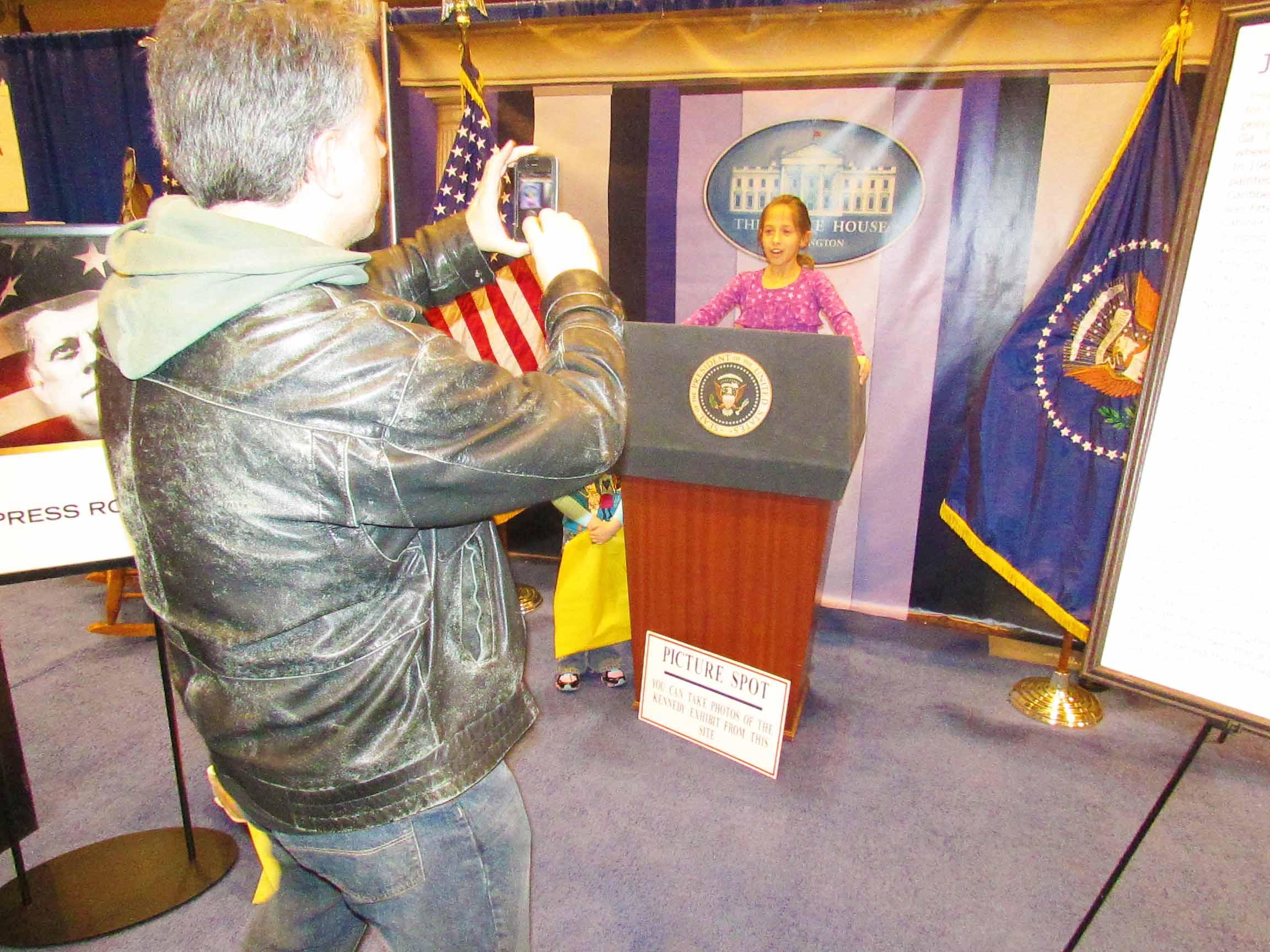 Photo Op at President's Podium