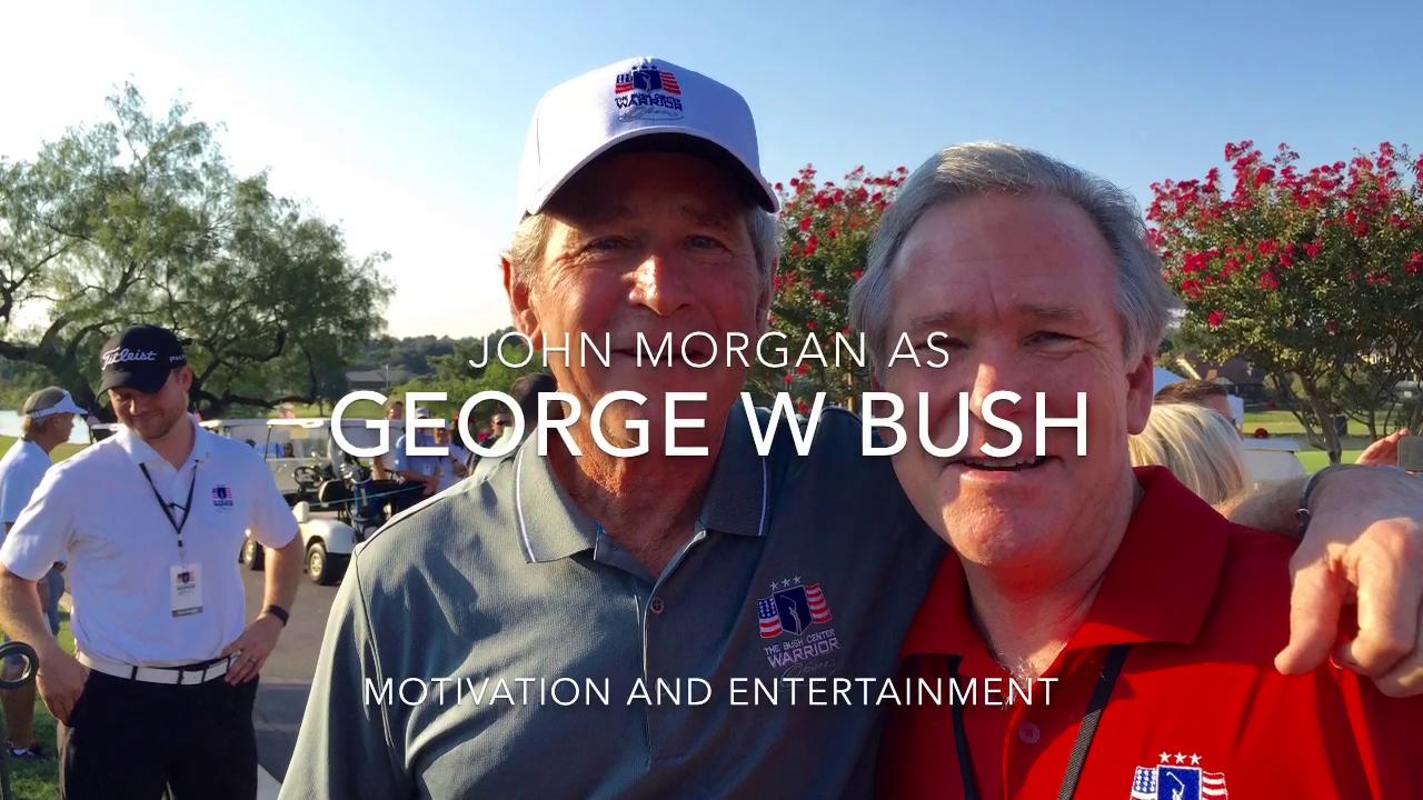 JM with GW Bush Label