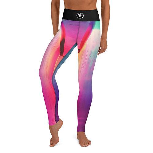 Pink Dye Yoga Pants
