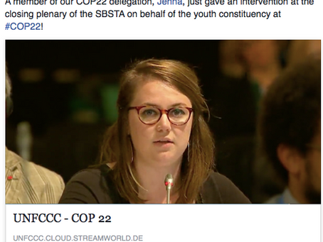 [Earth] member delivers SBSTA Closing Plenary Intervention at COP22